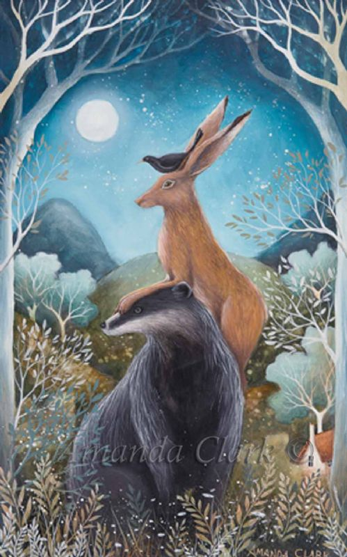 The Badger, The Hare and The Blackbird - Amanda Clark Artist